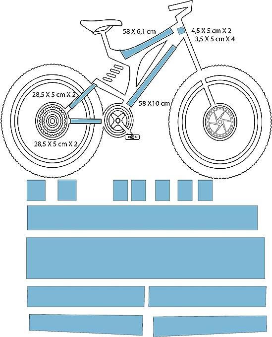 DESIGN PROTECT Película de protección Mate Bicicleta/Enduro ...