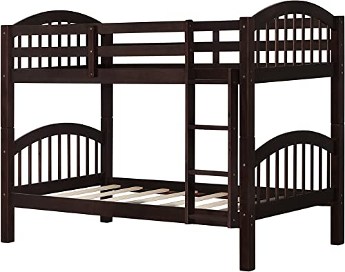 Bunk Bed Twin Over Twin 500 LB Heavy Duty,JULYFOX 2 Wood Bed Frame