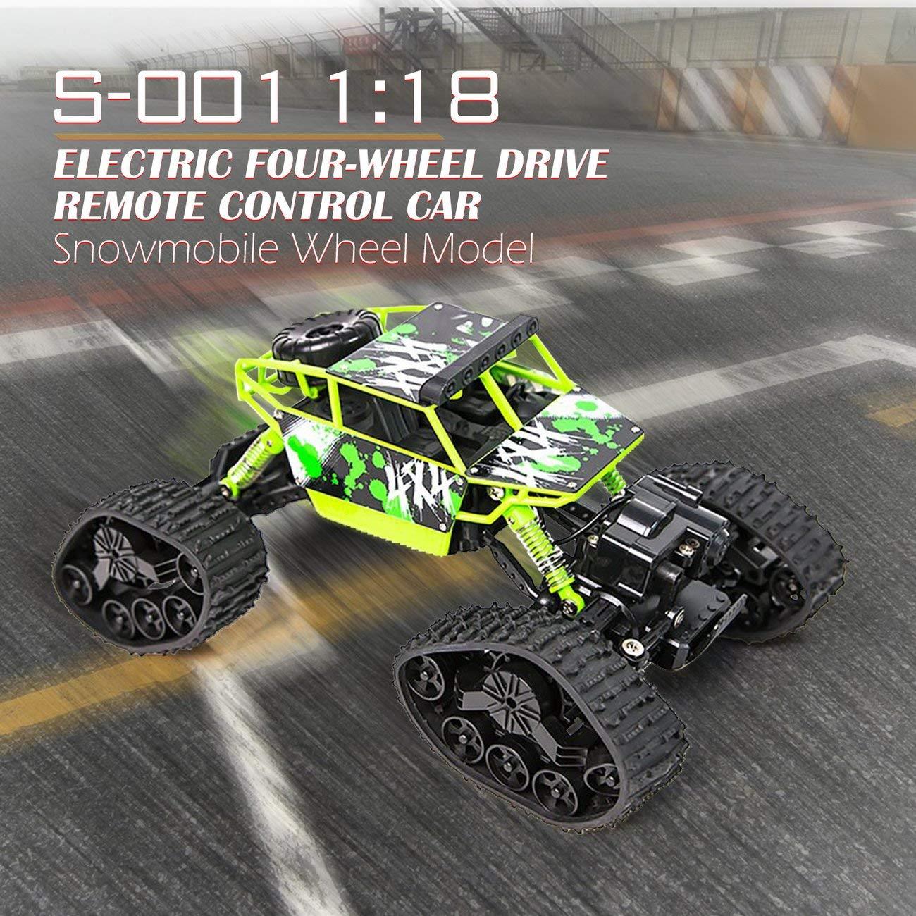 LasVogos LasVogos LasVogos 1 bis 18 elektrische Allradantrieb Snowmobile Rad Modell Fernbedienung Auto (Farbe: grün) 33cf62