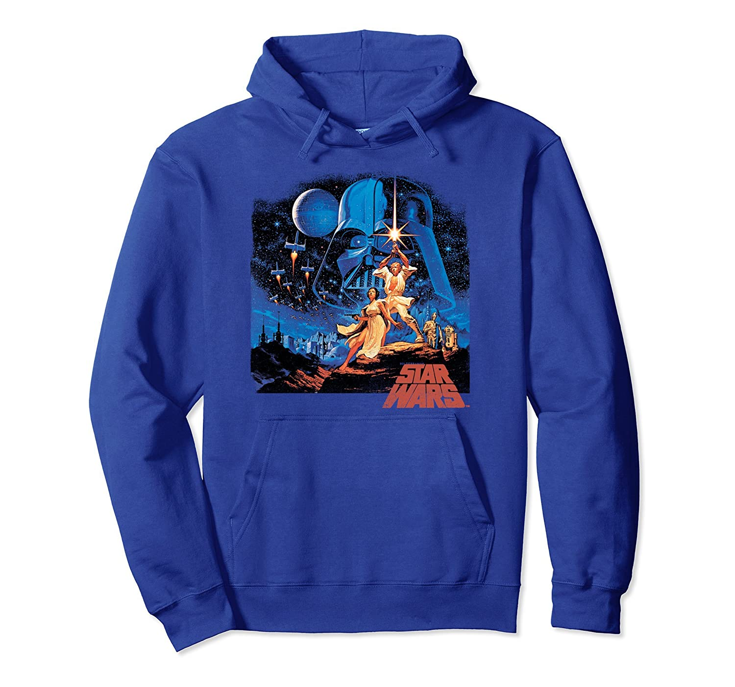 A New Hope Classic Vintage Poster Hoodie-ln