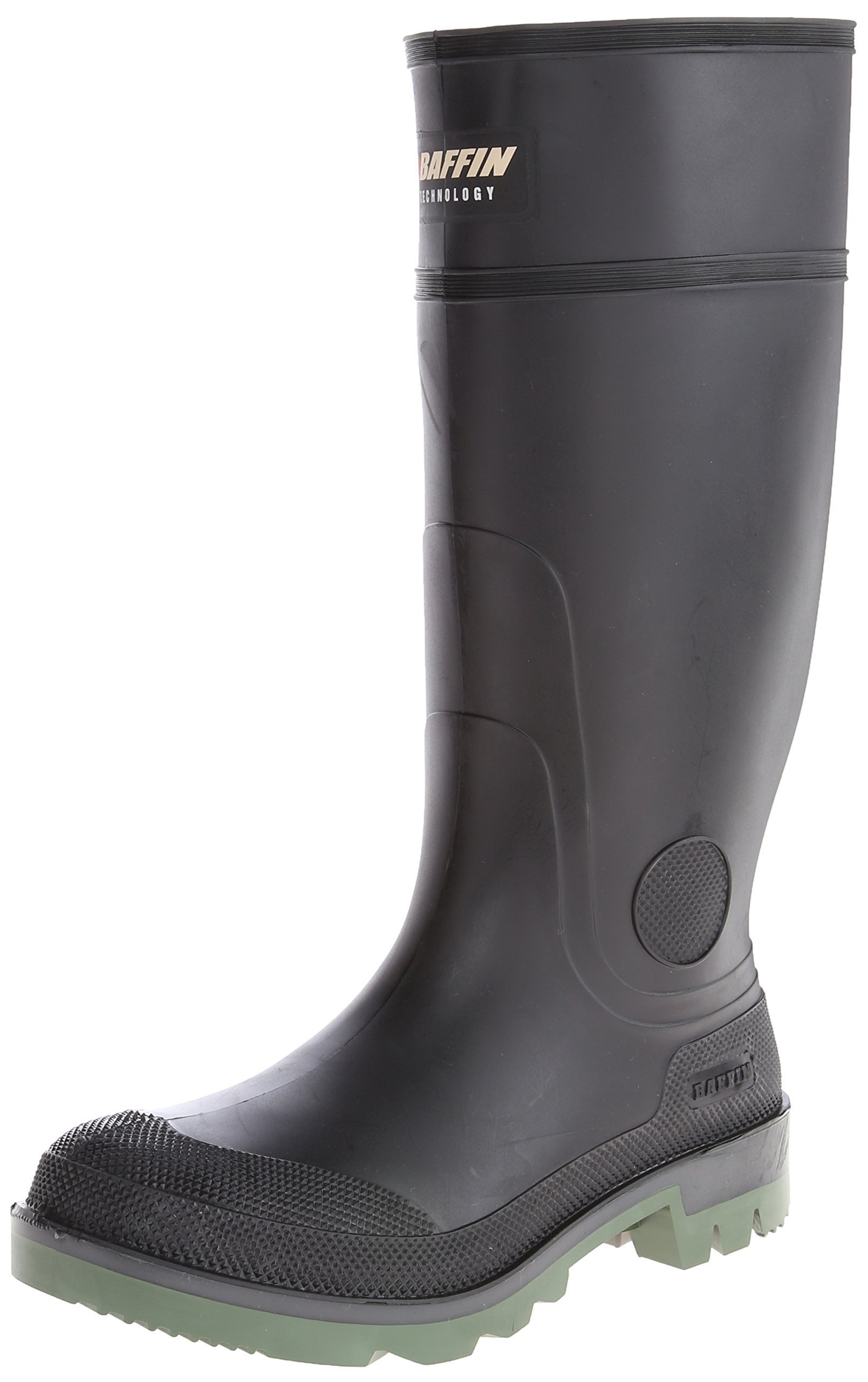 Baffin Men's Enduro PT Rain Boot,Black/Clear/Green,10 M US by Baffin