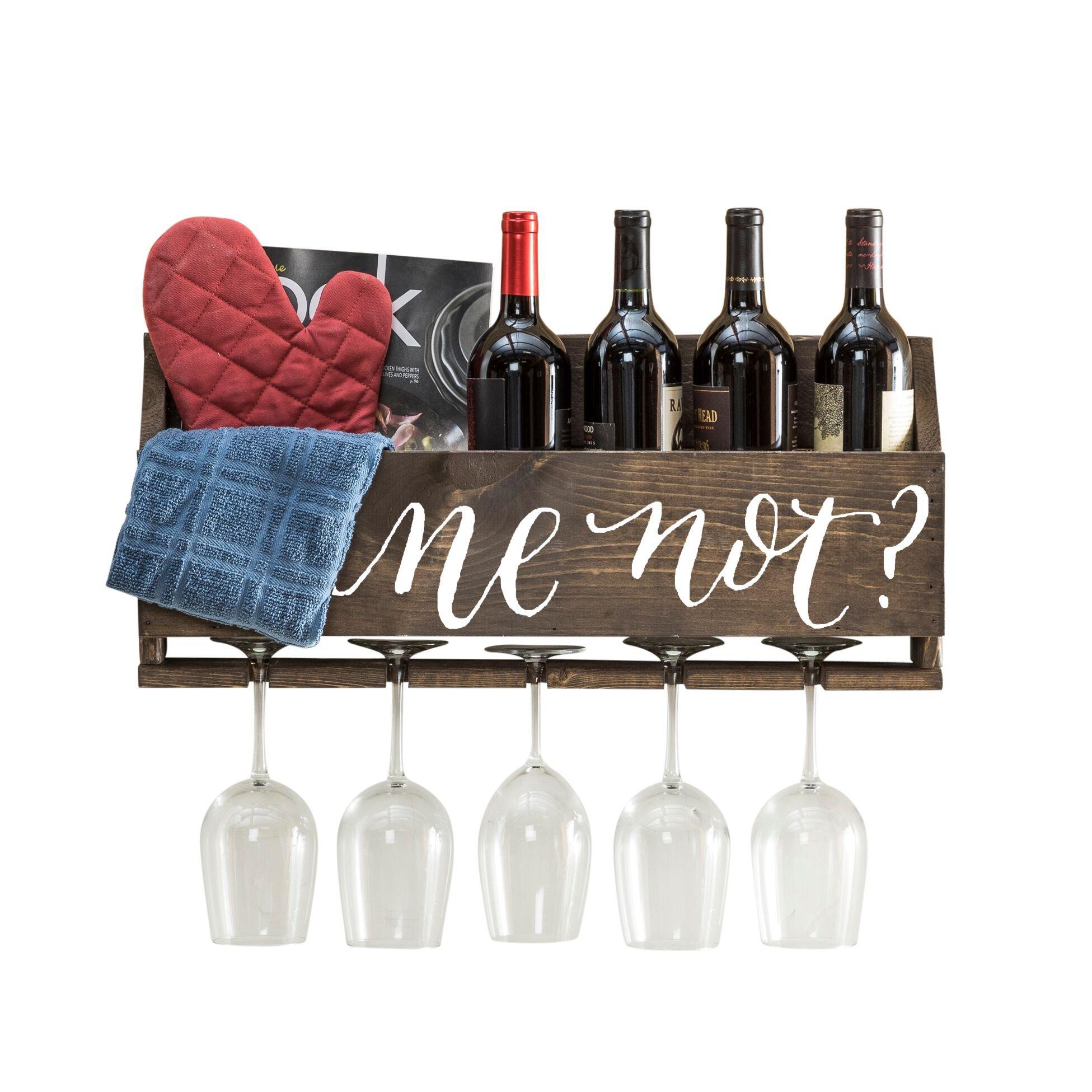 del Hutson Designs Le Luxe Wine Rack (Wine Not? - Dark)
