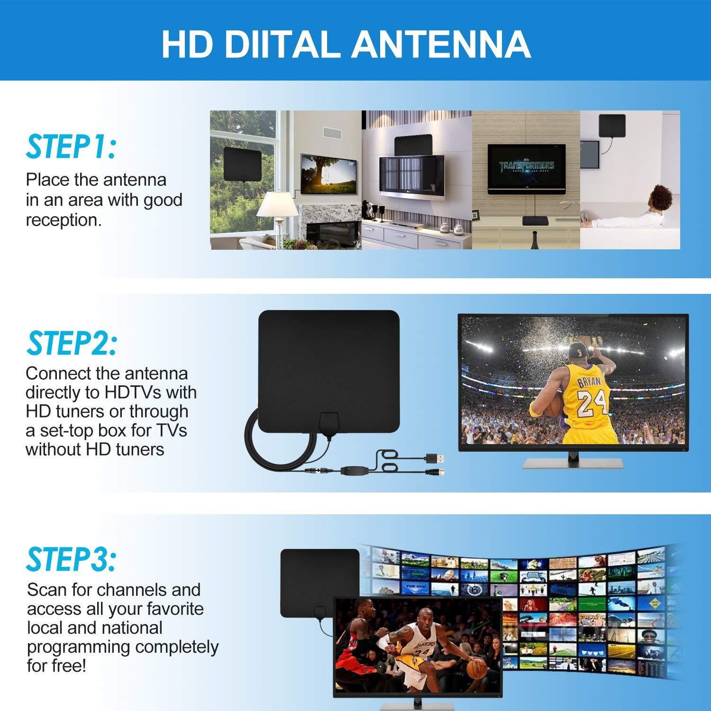 Amazon com: TV Antenna, Antenna TV Digital HD - Support All