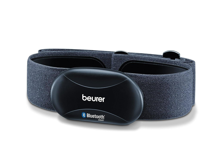 Beurer PM 250 - Correa pectoral pulsómetro para Smartphone, App Runtastic, Bluetooth 4.0, color negro 676.28