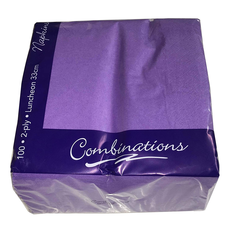 Tezraftaar/® 100 33cm X 33cm 2-Ply Napkins Soft Paper Napkins Tableware Party Supplies Celebration Black