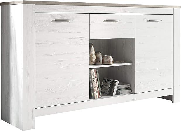 HomeSouth - Buffet Mueble Comedor, aparador de Cocina salón u Oficina, Modelo Frida, Medidas: 159 cm (Ancho) x 90 cm (Alto) x 40 cm (Fondo): Amazon.es: Hogar