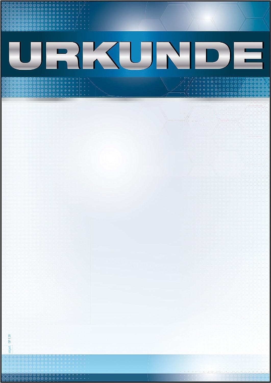 DIN A4 185 g//m/² 12 Blatt SIGEL DP120 Blanko Urkunde Sport