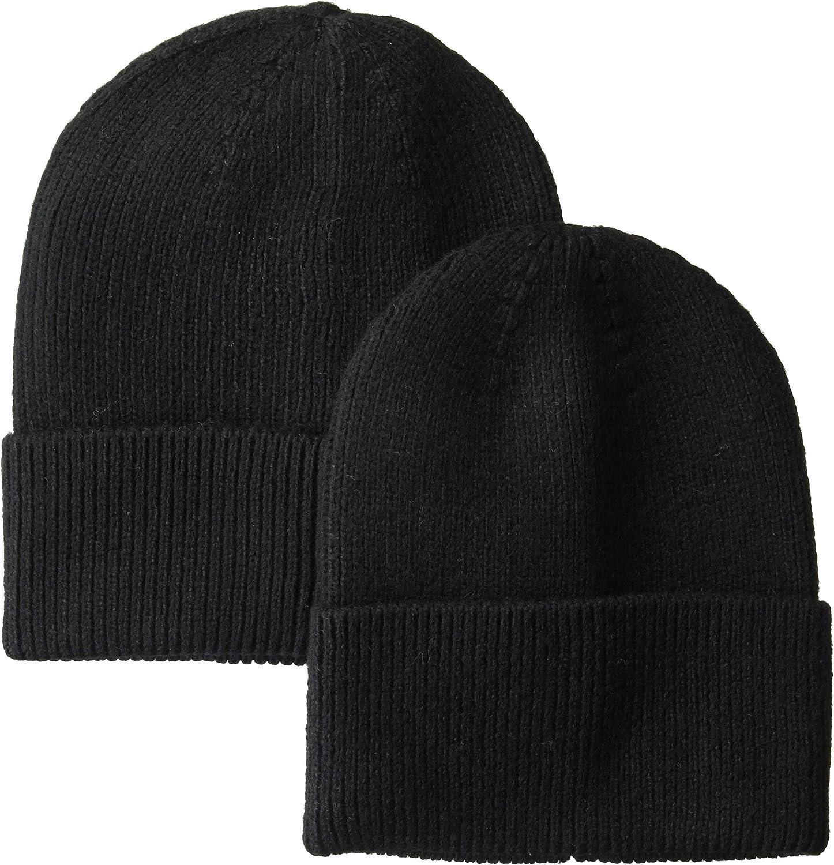 Amazon Essentials Men's2-Pack Knit Beanie Hat