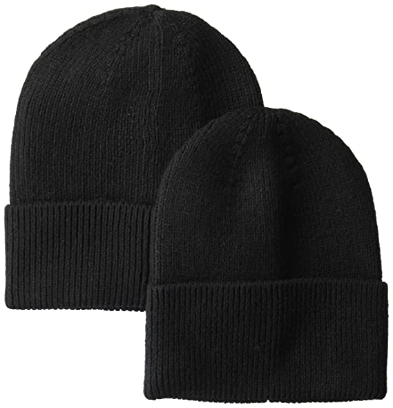 Amazon.com  Amazon Essentials Men s 2-Pack Knit Hat Black 45f84061c77