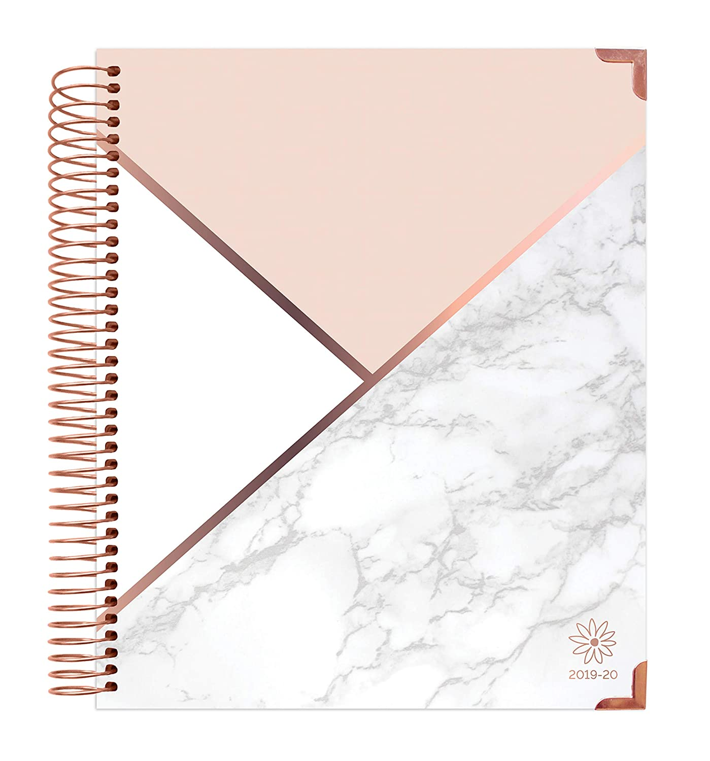 graphic about Daily Planners named bloom day by day planners 2019-2020 Hardcover Educational Yr Eyesight Planner (August 2019 - July 2020) - Regular and Weekly Column Viewpoint Calendar Organizer -
