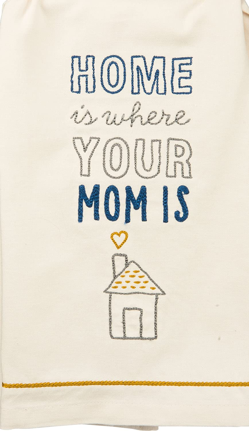 Cathy Heck Studio Embroidered Kitchen Towel - Home is where Your Mom Is