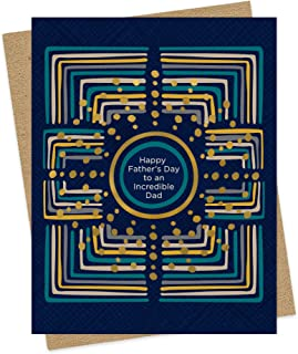 product image for Night Owl Paper Goods Incredible Dad Gold Foil Embellished Father's Day Card