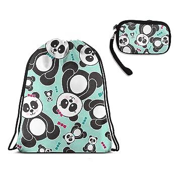 Amazon.com: Mochila con cordón con diseño de oso panda con ...