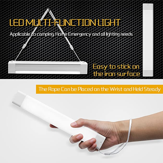 jirvyuk Rechargeable Portable LED Light Torch 5W Multifunctional Emergency Work