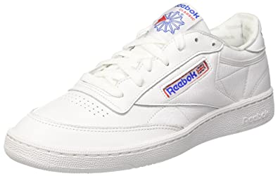 c7103fdb49c Reebok Club C 85 SO White LGH Solid Grey-Blanco-40 Hombre  Amazon ...