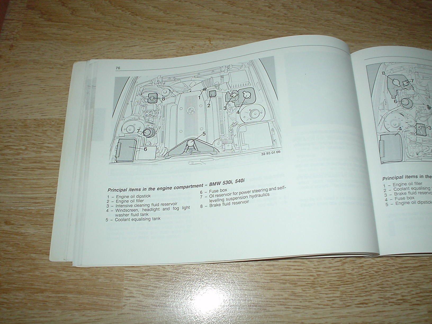 Bmw E34 5 Series Owners Handbook 1988 1996 Saloon Touring 530i Fuse Box 520i 525i 525ix 540i 525tds 520 525 530 540 Td I Ix Tds Hand Book Manual