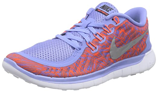 Nike Free 5.0 Print Sz 7 Womens Running Shoes (Chalk Blue, 8 B(