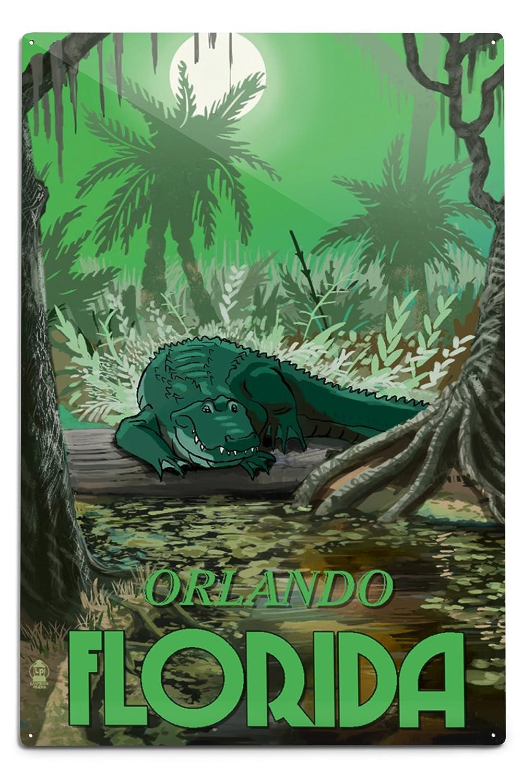 日本人気超絶の オーランド 12、フロリダ州 – Alligator Sign in Swamp 18 12 x 18 Metal Sign LANT-55867-12x18M B06Y1JGHHM 12 x 18 Metal Sign, OKAクリエイト:3335e7d6 --- 4x4.lt
