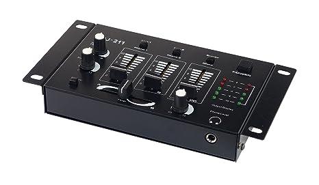 American DJ 4250019103605 Negro Mesa de mezclas de DJ 211: Amazon ...