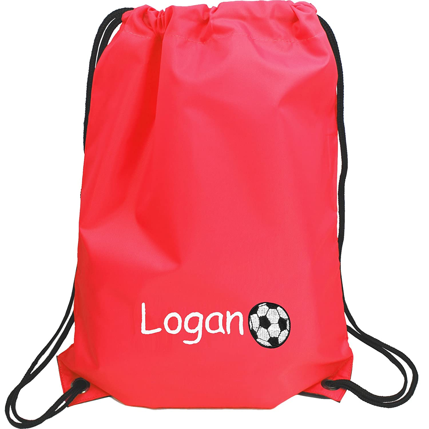 Personalised Boy's Embroidered Football Drawstring Gym Training Bag