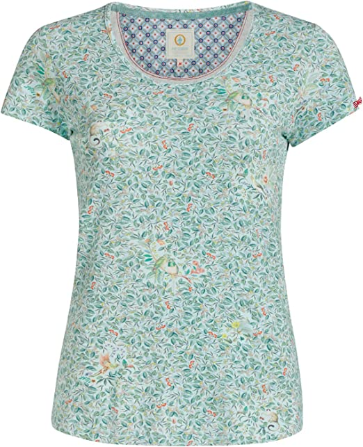 PiP Studio Damen T-Shirt kurzarm Pyjama Oberteil Toy Yves Short Sleeve