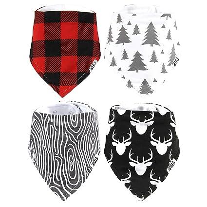 Presents Stockings Fabric Food Burp Christmas Baby Bandana Dribble Bib Bibs