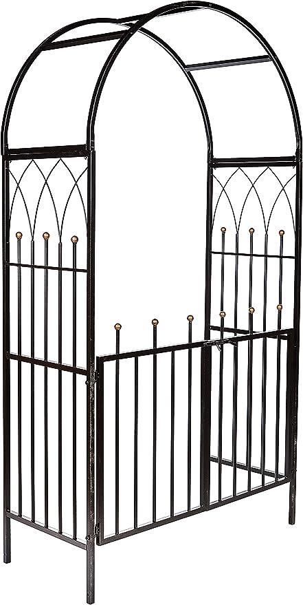 Ruddings - Arco y Puertas de jardín de Metal con sección Cuadrada de Alta Resistencia de Madera - Arco de Soporte para Plantas de Escalada de arbour: Amazon.es: Jardín