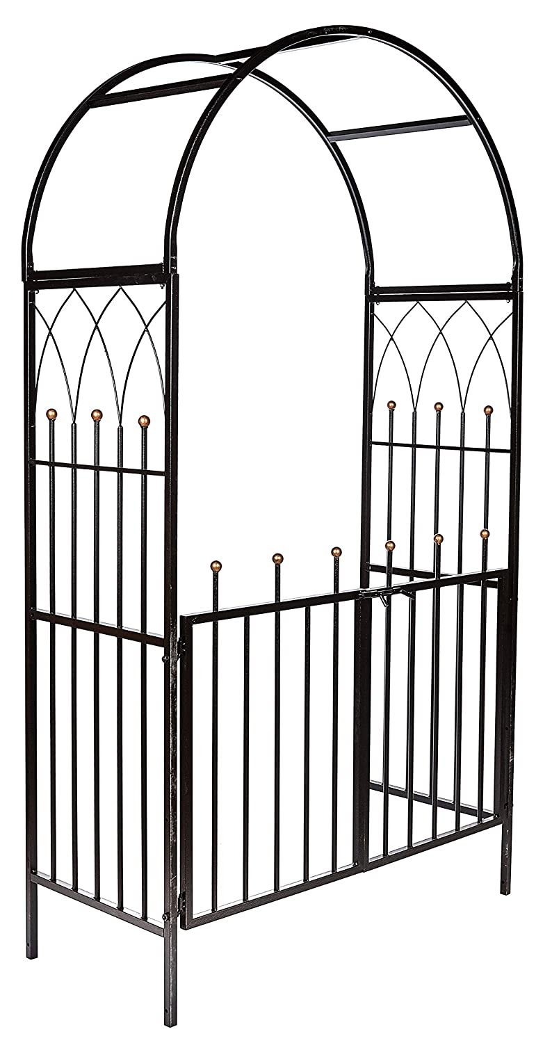 Arbour Climbing Rose Plant Support Pergola Gated Archway Ruddings Wood Heavy Duty Square Section Metal Dorchester Garden Arch and Gates