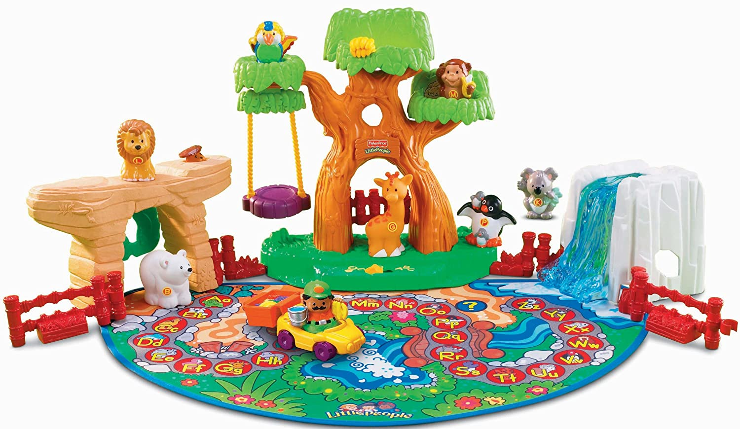 Amazon.com: Fisher-Price Little People A To Z Learning Zoo Playset ...