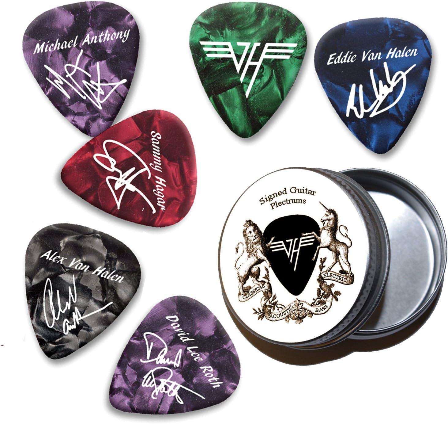 Van Halen Pearl Púas de guitarra con estaño Tin (HP): Amazon.es ...