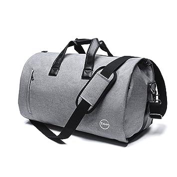 Amazon.com | Pretigo Garment Bag for Travel Suit Bag Duffle for Men Weekender Handbag with Shoe Compartmen Grey | Travel Duffels
