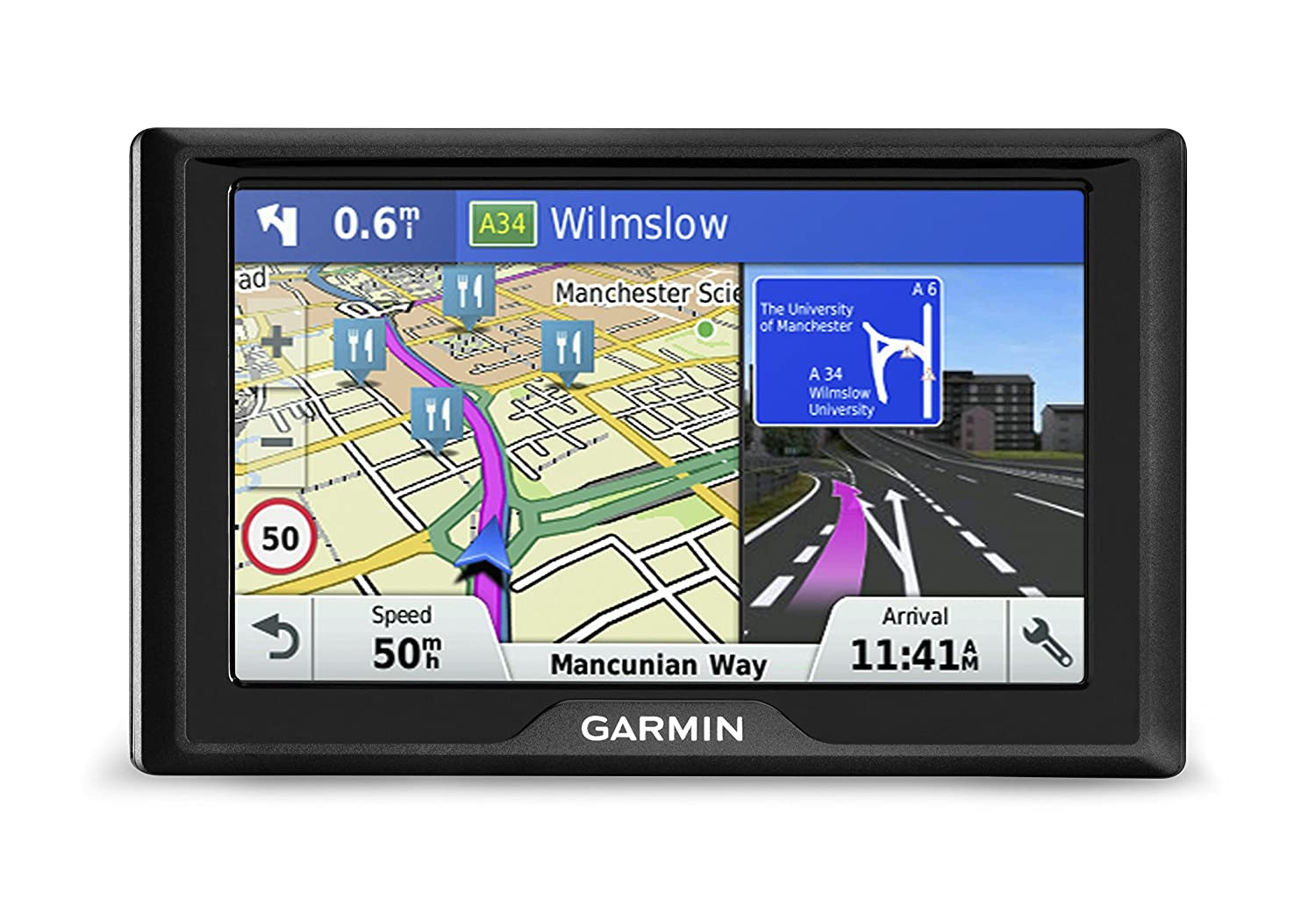 Garmin Drive 50LM Satellite Navigation with Western Europe Lifetime Maps - 5 Inch, Black 010-01532-2C