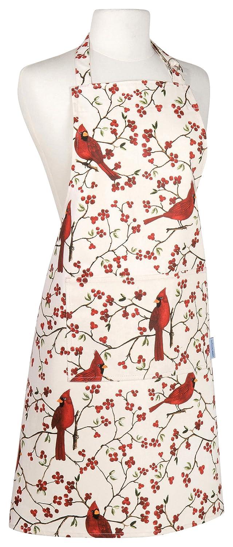 Now Designs Basic Cotton Kitchen Chef's Apron, Cardinals