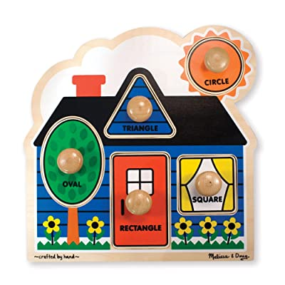 Melissa & Doug First Shapes Jumbo Knob Puzzle: Melissa & Doug: Toys & Games