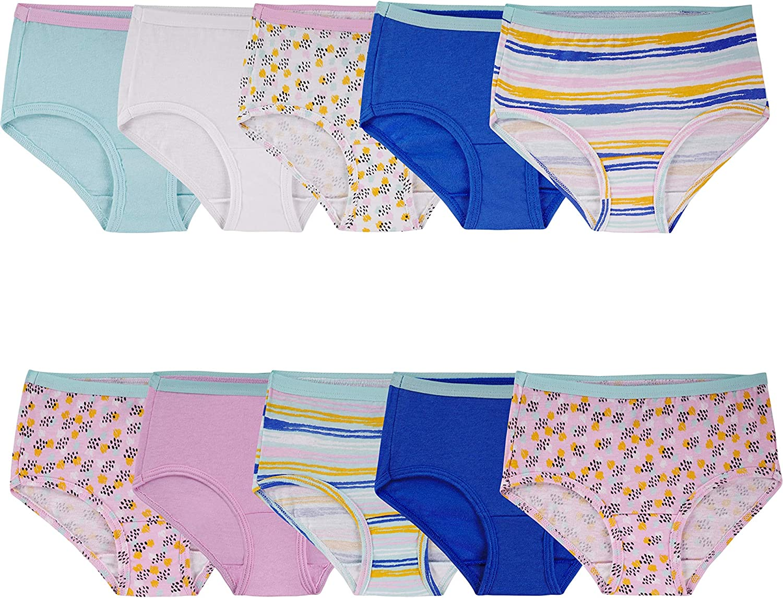 Fruit of the Loom Girls' Cotton Brief Underwear: Clothing