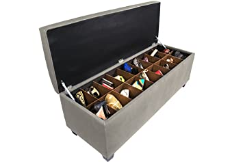 Genial The Sole Secret Obsession Series Button Tufted Large Upholstered Lift Top  Bedroom Shoe Storage Bench With
