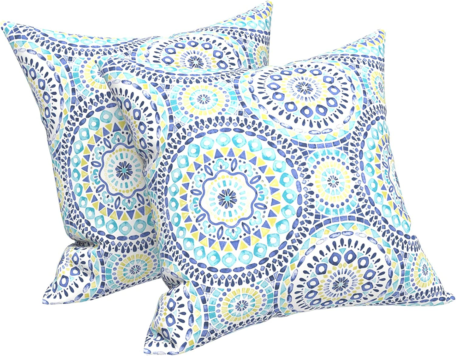 Lvtxiii Outdoor Throw Pillow Covers 18 X 18 Inch Modern Paisley Pattern Decorative Square Toss Pillow Case Pack Of 2 For Home Patio Garden Sofa Bed Furniture Delancey Lagoon Home Kitchen