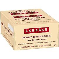 Larabar Gluten Free Bar Peanut Butter Cookie, Dairy Free, 16 ct, 27.2 oz