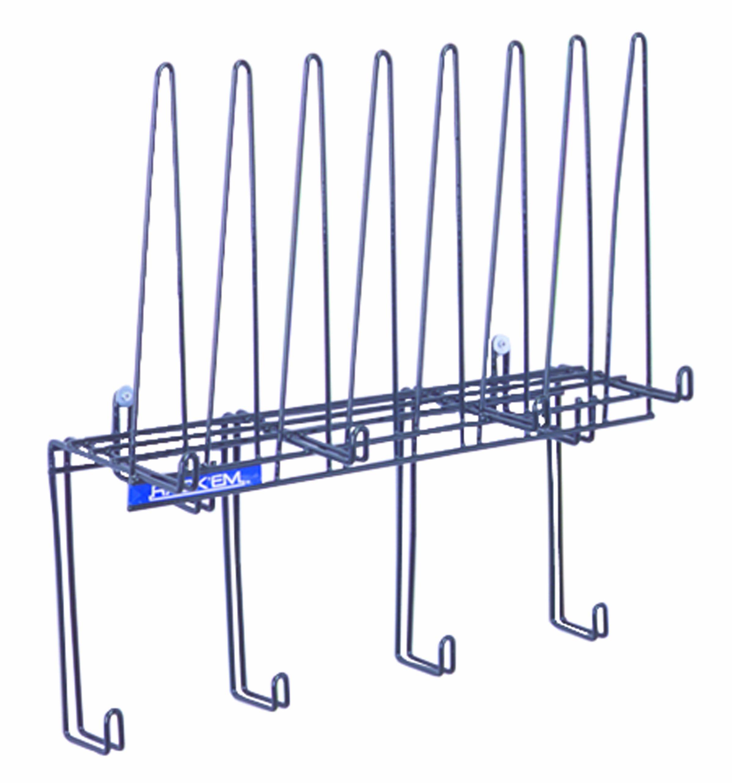 Horizon 2016-PVC Steel ''Space-Saver'' PPE Storage Rack, 22'' Width x 20'' Height x 7-1/2'' Depth, Green