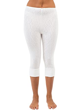 3 4 White Leggings