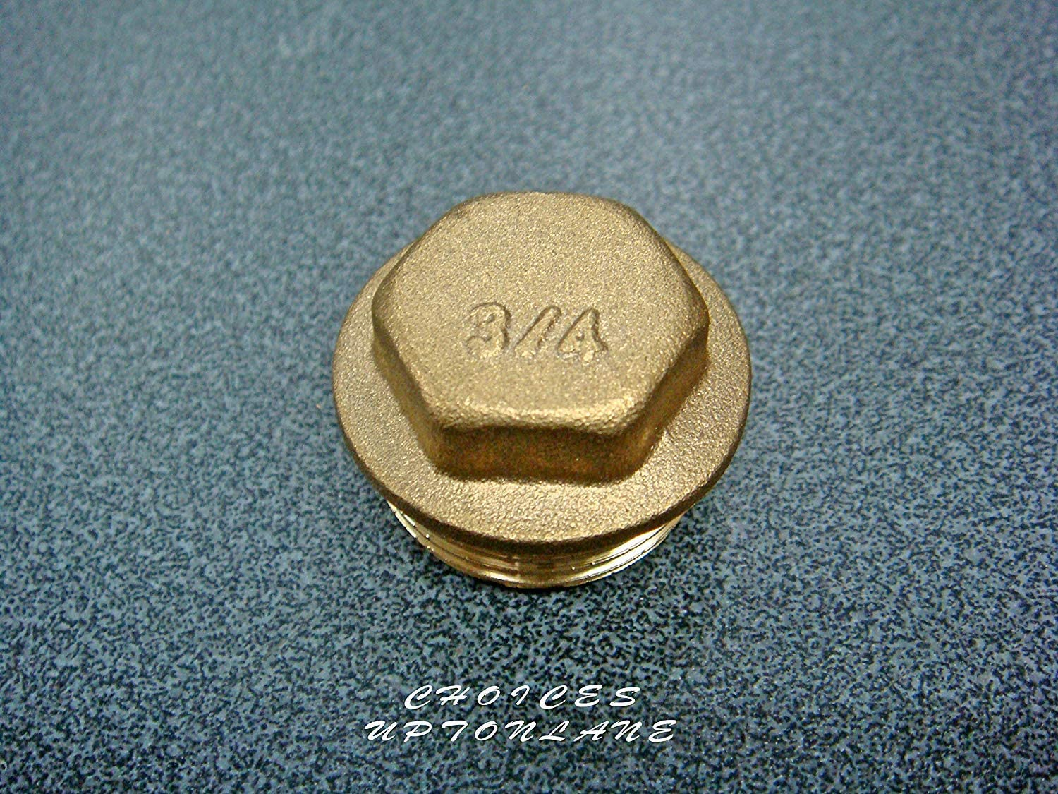 """BSP 1//8/"""" ~ 2/"""" Thread Brass Pipe Screw Male Blanking Plug Tube Stop End Cap Cover"""