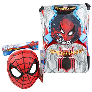 Seven DC Comics Spiderman Home Coming Backpack With Gadget Daypack Travel Bag Freetime