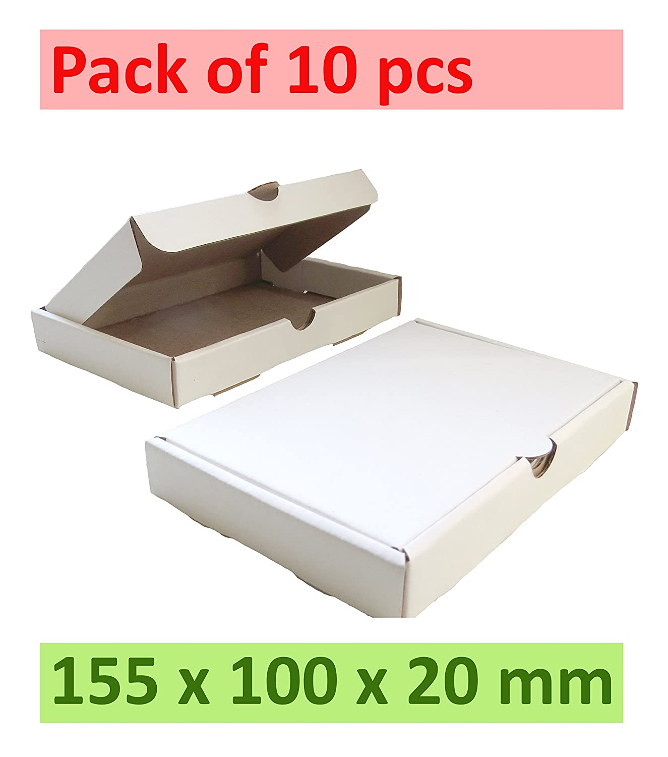 Amazon.com : 10 x White Carton Boxes Packaging Cardboard) 6.1