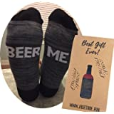 "Funny Beer Socks and Gift Box- ""BEER ME"" gift for dads, christmas, birthdays, and more!"