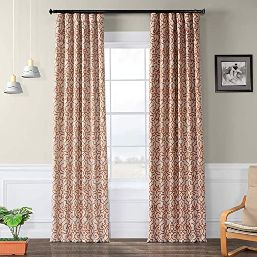 HPD Half Price Drapes BOCH-KC104B-120 Blackout Room Darkening Curtain 1 Panel