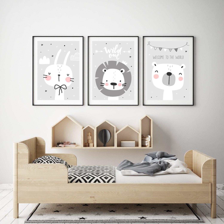 Frechdax 3er Set Kinderzimmer Babyzimmer Poster Din A4 Ohne