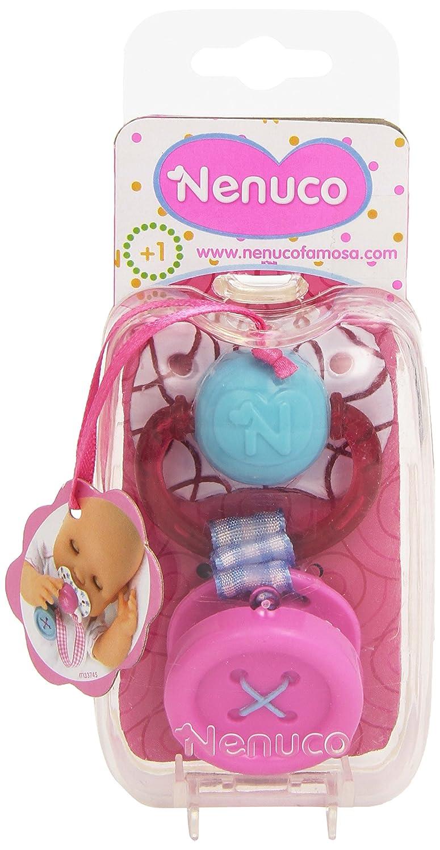 Nenuco - Chupete con botón, Color Rosa (Famosa 700011201)