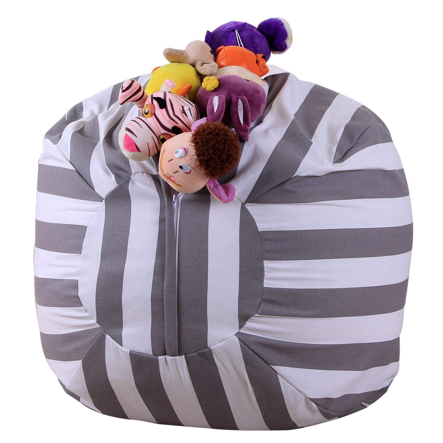 Stuffed Animal Storage Bean Bag - Toy Storage Children's Chair Cover Children Chair - Clean up the Room and Put Those Critters to Work for You! (26'') by Yonfro