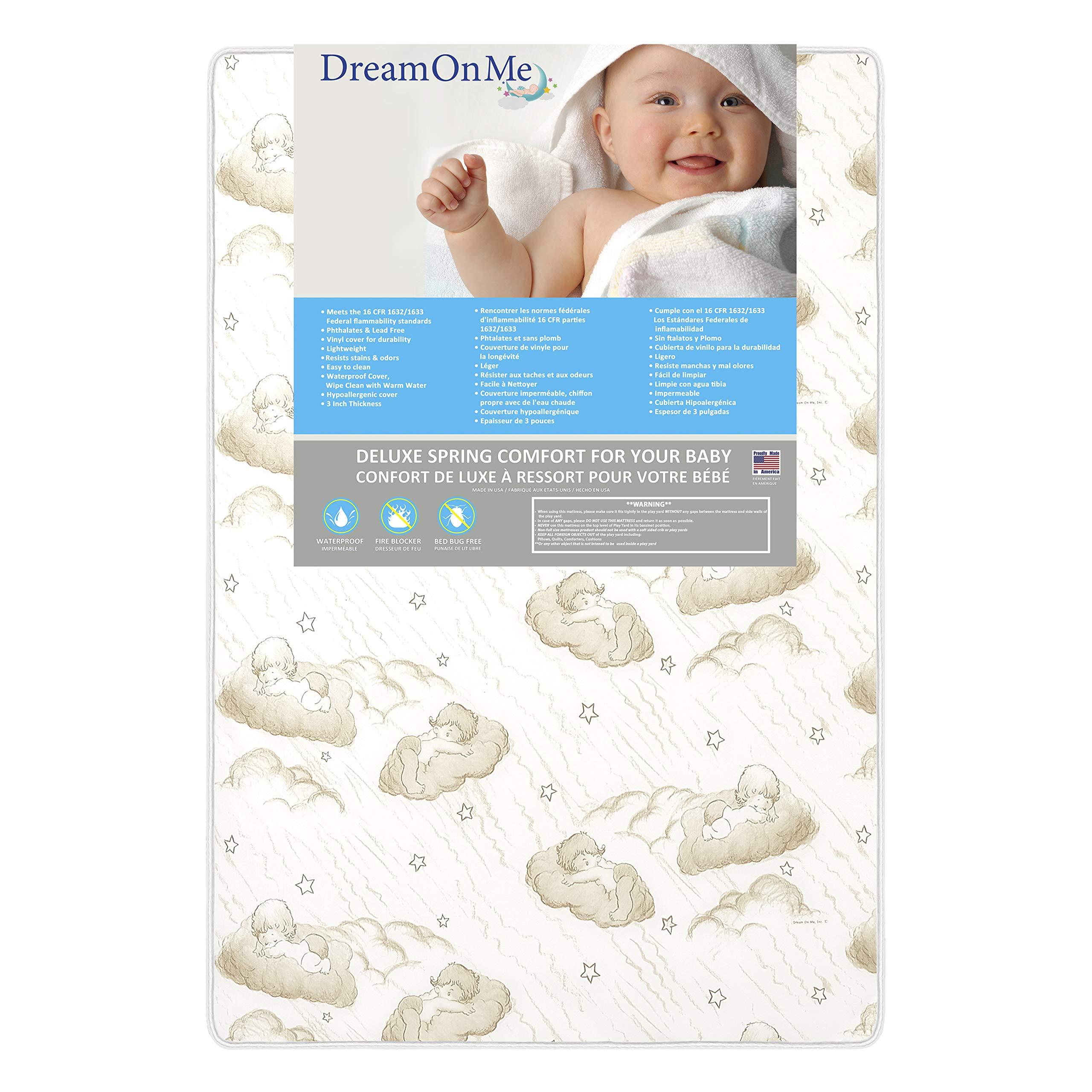 Amazon Com Dream On Me 3 Spring Coil Mini Portable Crib Mattress