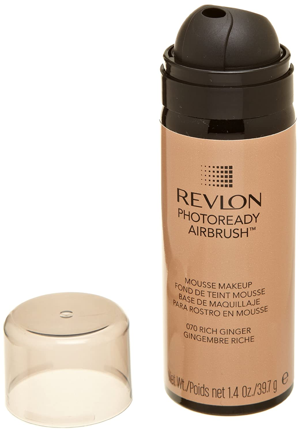 REVLON Photoready Airbrush Mousse Makeup, Rich Ginger, 1.4 Ounce